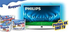 Knoppers: 50 x ein PHILIPS 4K UHD LED TV Android mit Ambilight