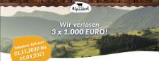 Alpenhof: 3 x jeweils 1.000 € Bargeld gewinnen