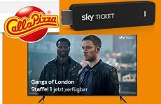 Call a Pizza: ein Samsung TV & 30 x Sky Ticket TV Sticks werden verlost!
