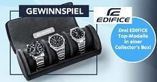Gewinnspiel Edifice: 3 x EDIFICE Collector's Boxen werden verlost!