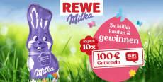 Milka & REWE: täglich ein 100 € Einkaufsgutschein