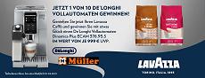 Gewinnspiel Müller: 1 von 10 De Longhi Dinamica Plus Vollautomaten zu gewinnen