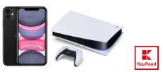 Gewinnspiel Kaufland: 5 x ein iPhone 11 oder eine von drei Playstation 5