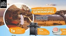 Just Spices: Afrika Reise im Wert von 10.000 Euro, zehn Napoleon Gasgrills und mehr
