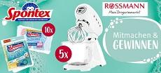 Rossmann: 5 x SMEG Küchenmaschinen & 10 x Spontex Produktpakete werden verlost!
