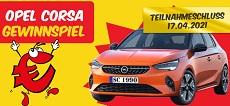 SCONTO: ein Opel Corsa im Wert von 25.000 € wird verlost!