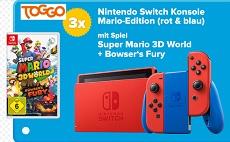 Gewinnspiel Toggo: 3 x eine Nintendo Switch inkl. Super Mario 3D Spiel zu gewinnen