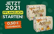 Actimel 100 % Pflanzlich von Danone mit 0,50 € Cashback