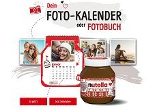 nutella: 3 Gläser kaufen und einen gratis Foto-Kalender erhalten