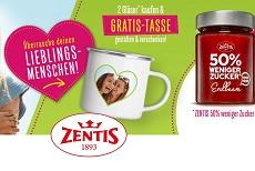 Zentis: 2 Gläser kaufen & eine gratis Tasse sichern