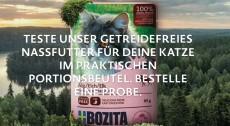 Bozita: gratis Nassfutter Produktprobe für Katzen