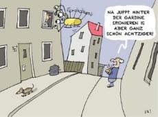 Bund: gratis Postkarten mit Karikaturen