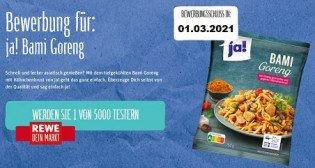 REWE: ja! Bami Goreng - 5000 Produkttester gesucht