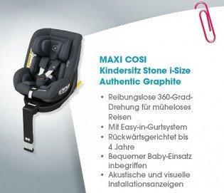 babymarkt: MAXI COSI Kindersitz Stone i-Size - Produkt testen