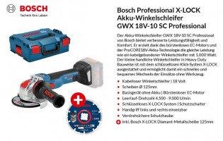 ALTERNATE: Bosch X-LOCK Winkelschleifer inkl. Zubehör - 6 Tester