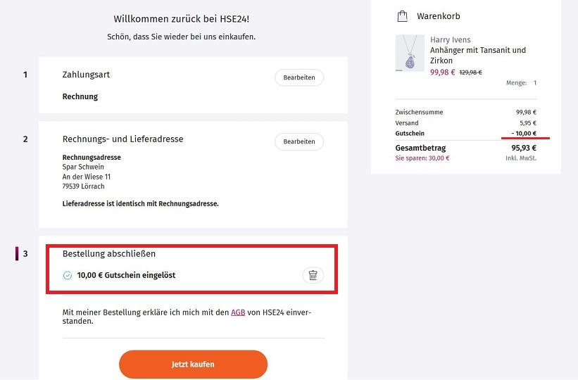 Hse24 Gutschein Neukunde